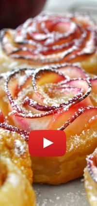 Discover thousands of images about Apples & Puff Pastry Roses by cuisine-addict Apple Desserts, Apple Recipes, Sweet Recipes, Pastry Recipes, Baking Recipes, Comida Judaica, Sweet Pastries, Pastry Cake, Desert Recipes