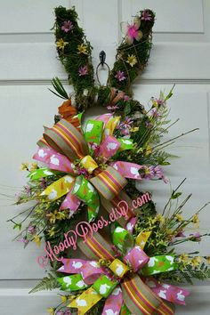 Sharing an Easter wreath created by Trendy Tree customer, Moody Doos, check out her Etsy shop. Shop Trendy Tree onine for Easter wreath making supplies. Easter Bunny Decorations, Valentine Decorations, Easter Wreaths, Easter Decor, Spring Wreaths, Easter Centerpiece, Mesh Wreaths, Holiday Wreaths, Holiday Crafts