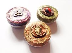 Three Small Medcine Tina Rapé Snuff Tin. Container by AUMBRATRIBE