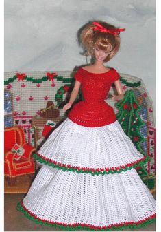 Crochet Fashion Doll Barbie Pattern- #616 CHRISTMAS TIME