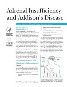Adrenal Insufficiency and Addisons Disease by roger961 via slideshare