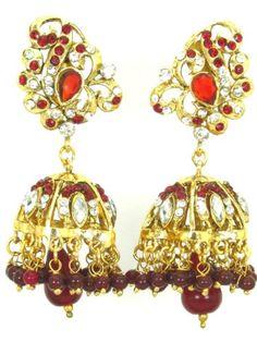 Imitation Designer Stone Jhumka Earring / AZINJE121-GMR Arras Creations http://www.amazon.com/dp/B00GYSFK3E/ref=cm_sw_r_pi_dp_uS1yub1VG3R1M