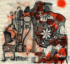 "12"" x 14"" Inks on hemp paper 2011"