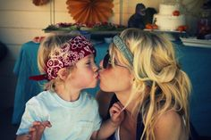 hippie babies and hippie momma. Heck to the yes. Becca Hall- happy mountain hippie babies.