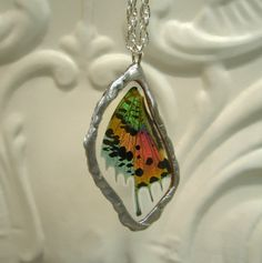 Stunning Real Madagascan Moth Wing necklace  lower by workofwhimsy, $30.00