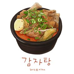 Paint by Korean artist: Xihanation Food Design, Food Porn, Pinterest Instagram, Food Cartoon, Watercolor Food, Food Painting, Food Wallpaper, Food Icons, Fake Food