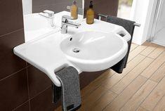 My top 5 bathroom sinks for wheelchair users – Wheel Chic Home Disabled Bathroom, Handicap Bathroom, Bathroom Niche, Modern Master Bathroom, Modern Bathroom Design, Bathroom Flooring, Bathroom Ideas, Bath Ideas, Small Bathroom