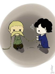 I ship it like Titanic < not quite.... I do not ship it much but think it's cute! Wait I ship Sherlock and the mustache