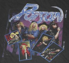 Original 1988 Poison Open Up and Say Ahhh Tour Shirt. Shirt is pre-owned. Faded and has a couple holes. Part of shoulder seem shows some wearing - see photos.