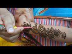 Quick Mehndi Design on Hands time lapse video