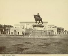 """Mexico City. Statue of King Carlos IV of Spain (""""El Caballito"""") by Cornell University Library"""