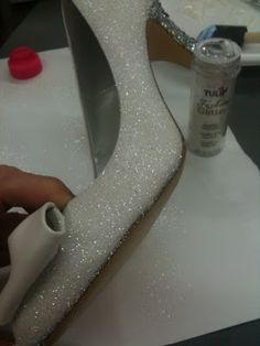 How to glam up your shoes for holiday parties.