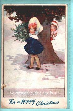 Chil christmas greeting Art sign. Agnes Richardson postcard 1917 TUCK`s | eBay