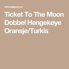Ticket To The Moon Dobbel Hengekøye Oransje/Turkis