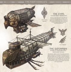 Feng zhu design steampunk ship, dungeons and dragons homebrew, mechanical art, picture design Steampunk Ship, Steampunk Kunst, Steampunk Weapons, Concept Ships, Concept Art, Fantasy Kunst, Fantasy Art, Dirigible Steampunk, Dungeons And Dragons Homebrew