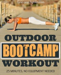 Outdoor Bootcamp Workout on Tone-and-Tighten.com - perfect now that the weather is getting warmer!