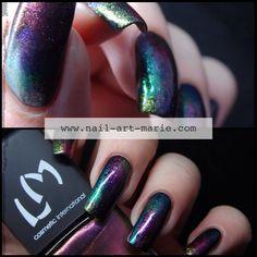 Nail Art Aurore Boréale www.nail-art-marie.com