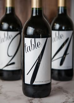 Wine table numbers for your wedding to add a creative twist to your special day.