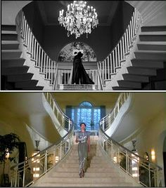 A criticism consistently leveled at Mommie Dearest on its release was how many scenes appeared to have been culled from Crawford's films, and not her life. I have no idea what Crawford's real-life home looked like, but these staircase scenes definitely suggest that someone was doing a little Late, Late Show research.