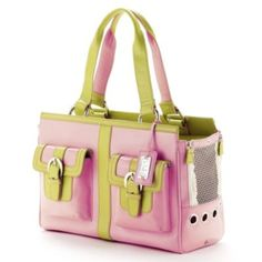 Rodeo Drive Lilly Pet Carrier. Love the colors and looks like a purse as well!