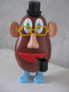 Potato Head used to come w a pipe. But that wouldn't be politically correct today. 1960s Toys, Retro Toys, Vintage Toys, Mr Potato Head, Potato Heads, School Memories, My Childhood Memories, Those Were The Days, The Good Old Days