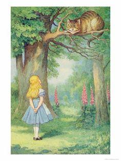 """Cheshire Cat"" by John Tenniel (1865)"