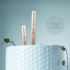 These adorable little 'popsicle stick' plant markers make it easy to identify plants in your garden. Totally customization, so you only get the herb, vegetable, and fruit labels you need! Plant Markers, Garden Markers, Identify Plant, Popsicle Sticks, Garden Gifts, Farmhouse Chic, Love Design, Popsicles, Laser Engraving