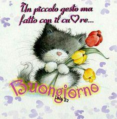 Buongiorno...di Iaia'82 Italian Memes, Cute Characters, Good Morning Quotes, Character Design, Happy Birthday, Teddy Bear, Animals, Facebook, Maria Sharapova