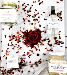 just a few of our rose products. All made with 100% natural organic ingredients.
