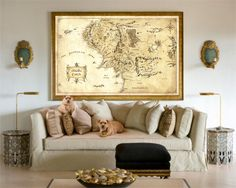 the lord of the rings, middle earth map, the lord of the rings map, Bag End, wall art, home decor, fantasy map, tolkien map, hobbit by ArtOfWatercolour on Etsy https://www.etsy.com/listing/268147277/the-lord-of-the-rings-middle-earth-map
