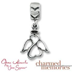 Charmed Memories at Kay Jewelers, Open Hearts Angel Charm Sterling Silver, $31.99