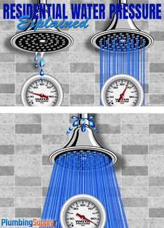 Learn how residential water pressure is generated, what the pressure should be for most homes, and what you can do to fix water pressure problems.