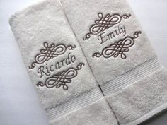 Make a personalized towel with your name.