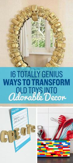 16 Totally Genius Ways To Transform Old Toys Into Adorable Decor - http://rtds.org/index.php/2016/01/24/16-totally-genius-ways-to-transform-old-toys-into-adorable-decor/