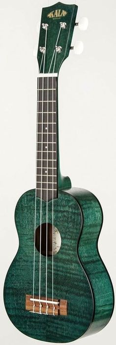 Kala KA-SEMG transparent green satin exotic mahogany Soprano Ukulele  (I own a number of Kala Ukuleles but I do like this finish) --- https://www.pinterest.com/lardyfatboy/