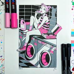 Notebook Drawing, Drawing Journal, Pen Art, Marker Art, Pop Art Colors, Posca Art, Quirky Art, Pretty Drawings, Arte Sketchbook