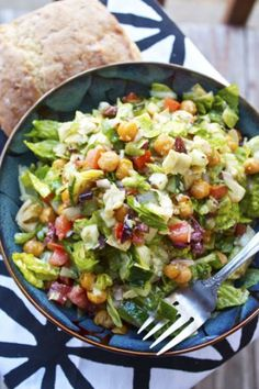 Mediterranean Chopped Salad - Dressing is absolutely delicious!!