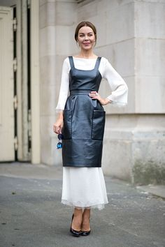 I thought most of the Paris fashion week street style was awful, but I loved everything Ulyana Sergeenka wore