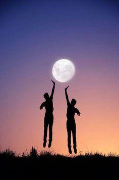 moon ball * trick photography