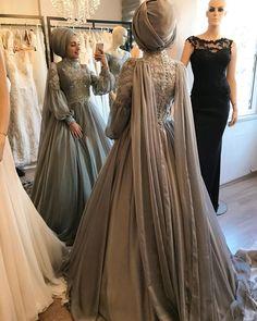 Image may contain: 3 people Muslim Wedding Gown, Muslimah Wedding Dress, Muslim Wedding Dresses, Muslim Dress, Hijab Dress, Bridal Dresses, Bridesmaid Dresses, Prom Dresses, Wedding Outfits