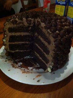 Escape Club, Malteser Cake, Chocolate cake recipe, baking,