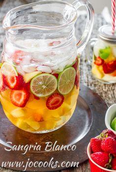 Sangria Blanco | Jo Cooks #sangria #LiquorList www.LiquorList.com @LiquorListcom