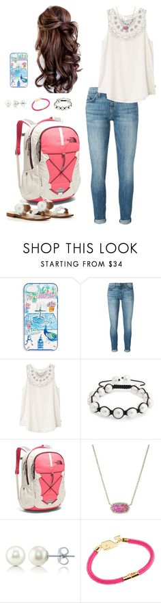 """""""Jan-NEW-ary"""" by mirandamf on Polyvore featuring Kate Spade, Current/Elliott, RVCA, Bling Jewelry, The North Face, Kendra Scott, BERRICLE, Vineyard Vines and Jack Rogers"""