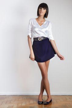 #gverri #gverristore #moda #fashion #inverno2013 #blusa #seda #branca #saia #veludo #cinto #belt