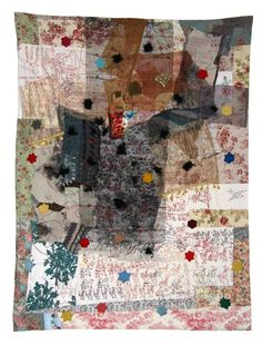 Anna Torma hand stitching collage