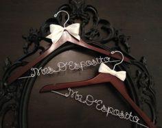 Bridal Hanger / Brides Hanger / Vintage Hanger / Name by GetHungUp