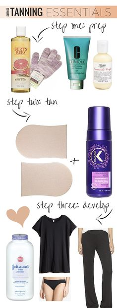 Sunless Tanning Essentials - get the perfect at-home tan with this how-to guide