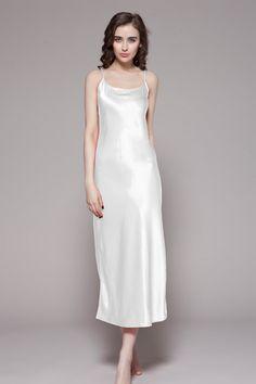 6bb49511c0f2 22 Momme Full Length Silk Nightgown