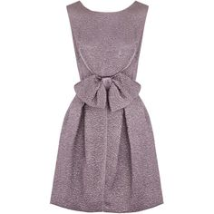 Nina Ricci Bow embellished textured silk blend dress ($2,505) ❤ liked on Polyvore