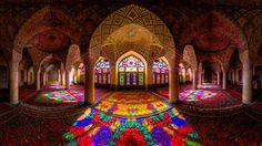 Nasir Al-Mulk Mosque, Shiraz, Iran. First day of winter, 11 AM. Photographer: Mohammad Reza Domiri Ganji.